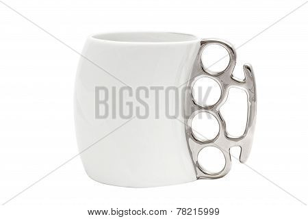 A Cup With A Handle In The Form Of Brass Knuckles