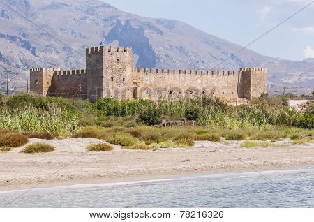The Venetian Fortress Frangokastello at the southwest side of Crete