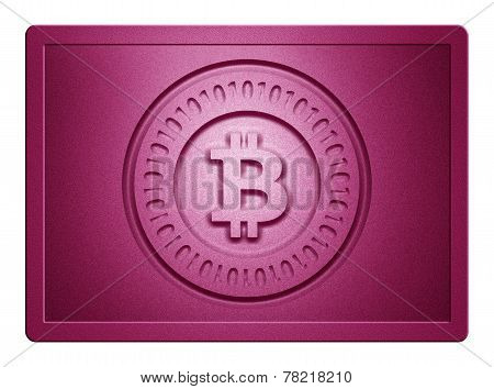 Pink Metallic Bitcoin Plate