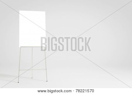 Empty white flipchart background for a presentation (3D Rendering)