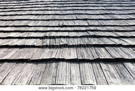 Old Wooden Shingle Roof