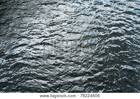 Cold And Deep Water Surface With Ripples
