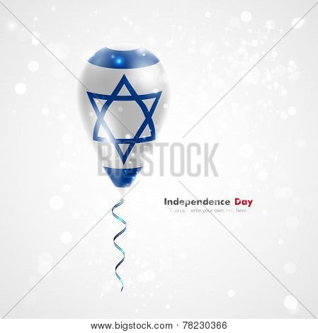 Flag of Israel on balloon