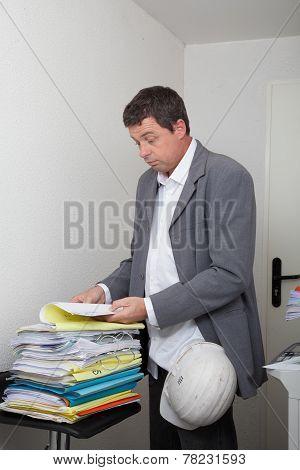 a man close to the photocopy machine