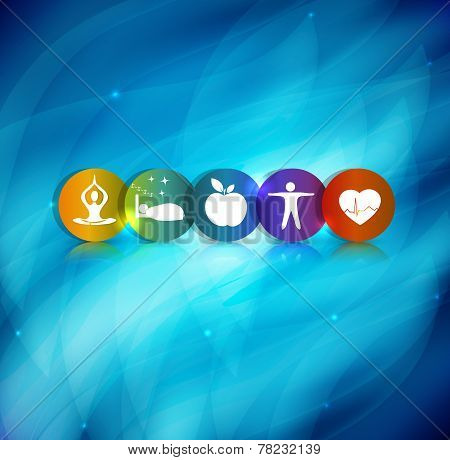 Healthy Lifestyle Symbol Background