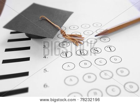 Test Time With Graduation Cap