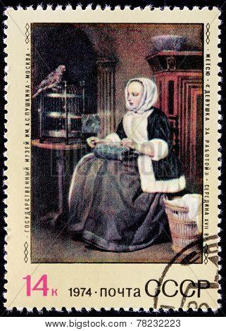 Gabriel Metsu Stamp