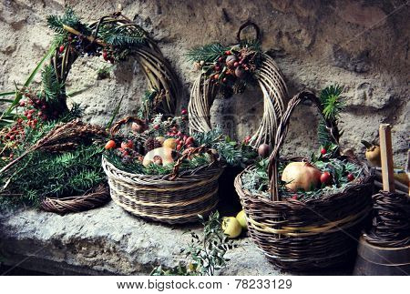 Rustic Winter Baskets