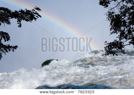 Rainbow At The Top Of Victoria Falls