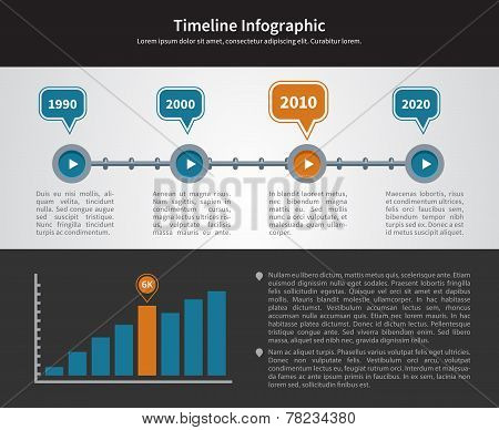 Simple Timeline Inforgraphic Design