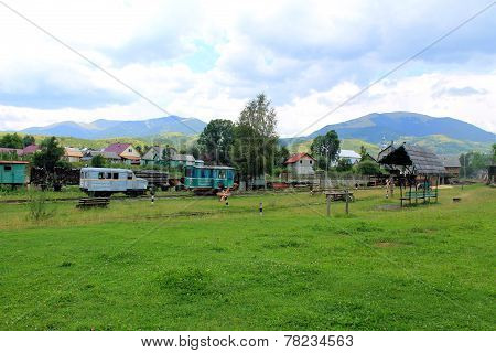 Old narrow-gauge railway in Transcarpathia