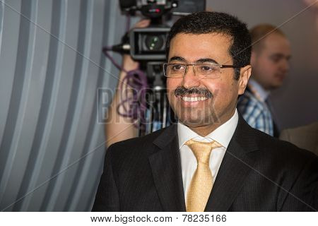 MOSCOW, RUSSIA, JUNE, 16:  Dr. Mohammed Saleh Al-Sada, Minister of Energy and Industry Qatar. 21st World Petroleum Congress, June, 16, 2014 at Crocus Expo  in Moscow, Russia