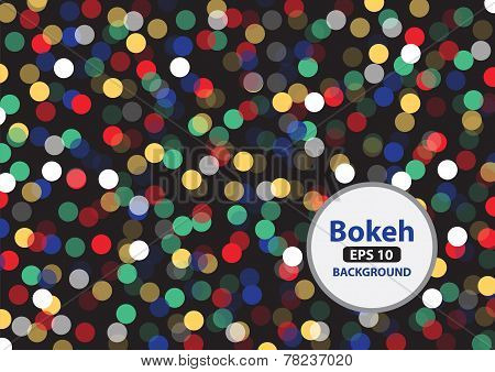 Multi color bokeh background