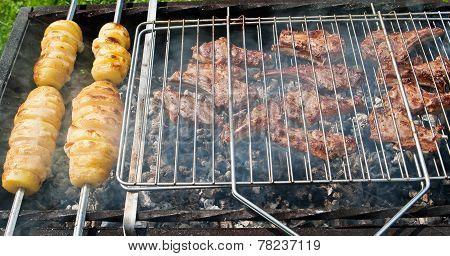Mutton Chops And Potato