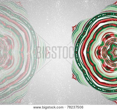 Colorful ornament snowflake.