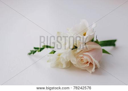 Groom's Boutonniere With Roses