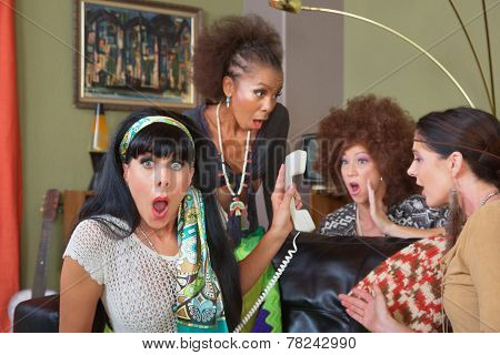 Shocked Ladies On Phone
