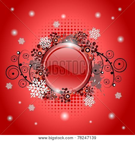 Christmas glossy button