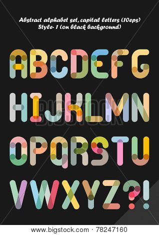 Abstract alphabet ( style 1 ), capital letters ( 10eps )