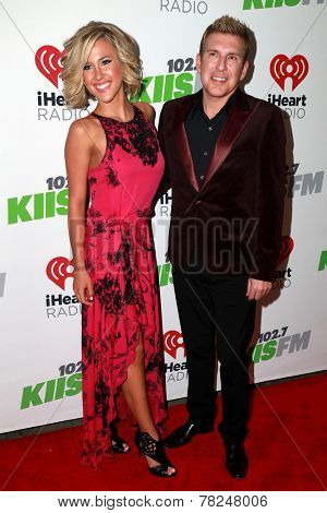 LOS ANGELES - DEC 5:  Savannah Chrisley, Todd Chrisley at the KIIS FM's Jingle Ball 2014 at the Staples Center on December 5, 2014 in Los Angeles, CA