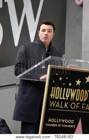 LOS ANGELES - DEC 11:  Seth MacFarlane at the Don Mischer Star on the Hollywood Walk of Fame at the Hollywood Boulevard on December 11, 2014 in Los Angeles, CA
