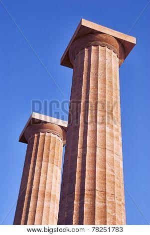 columns on the acropolis