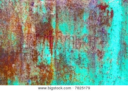 Rusty Metal Sheet With Paint