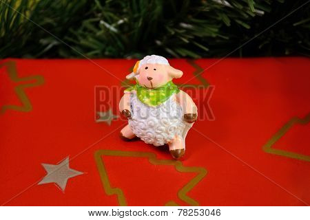 2015. Sheep and Christmas Tree