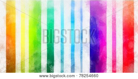 Digital simulation of painting. Multicolored iridescent line watercolor painting