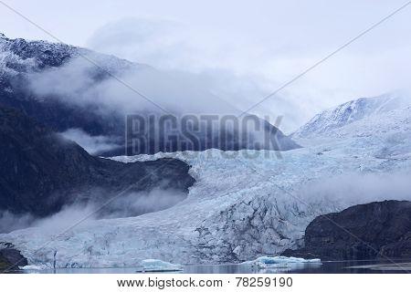 Misty Hues Of Mendenhall Glacier