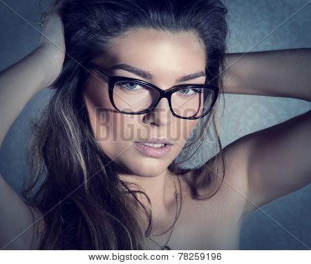 Beauty Portrait Of Brunette Woman.