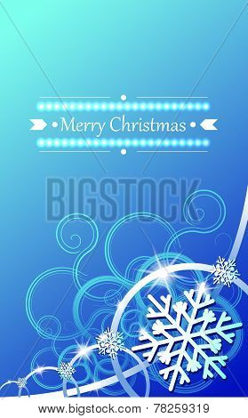 Christmas concept background with snowflakes.