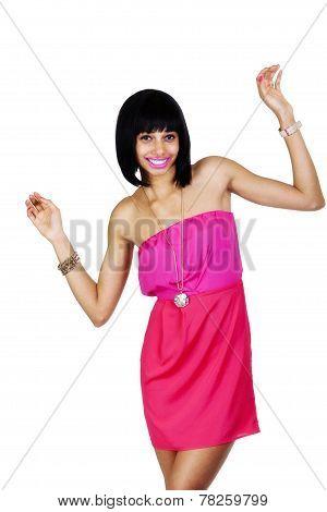 Skinny Light Skinned Black Woman Standing Dress