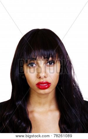 Portrait Young Skinny Attractive African American Woman