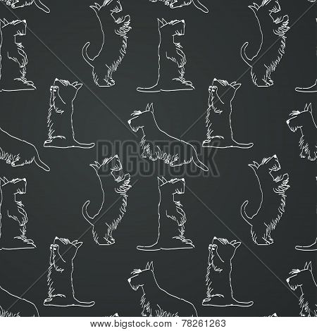 Doodle Dogs Pattern