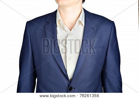 Sapphire For Men Suit Jacket Fine Checkered.