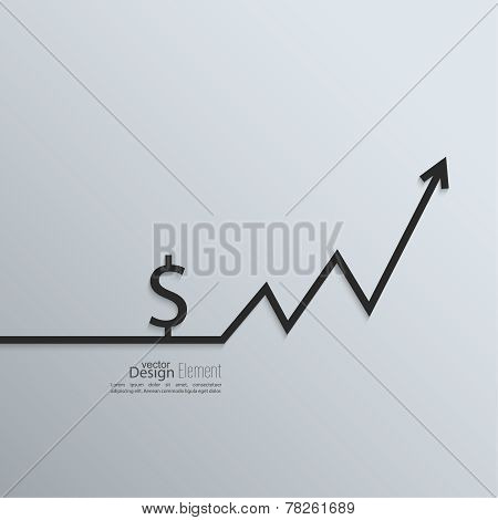 Ribbon a dollar sign and exchange the curve arrow