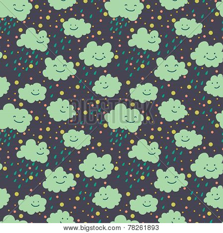 Doodle Clouds Pattern