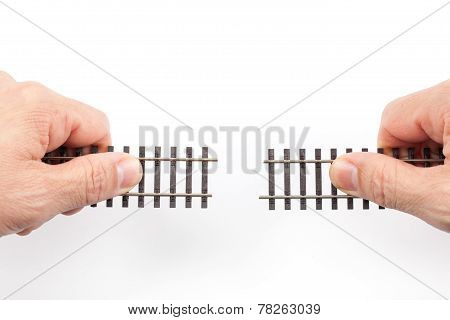 Train Rails In Hands