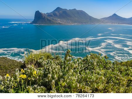 View of Hout Bay from Chapman's Peak drive, South Africa