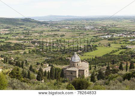 Church of Santa Maria delle Grazie al Kalchinayo. Cortona. Italy.