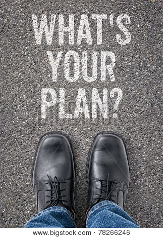 Text on the floor - Whats your plan