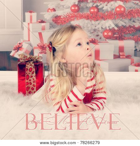 Innocent Toddler At Christmas