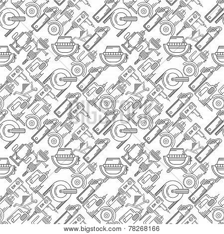 Seamless vector background for construction tools