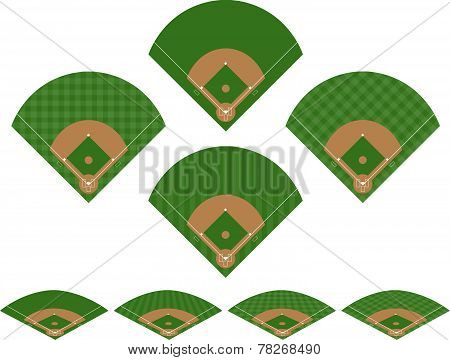 Set of Baseball Fields