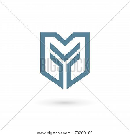 Letter Y Shield Logo Icon Design Template Elements