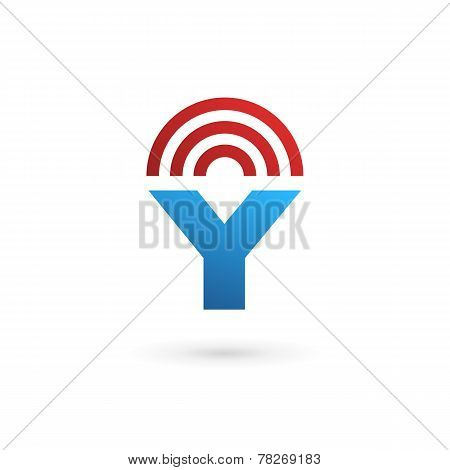 Letter Y Wireless Logo Icon Design Template Elements