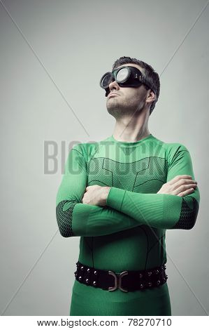 Cool Superhero Looking Away