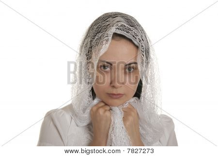 Defenceless Woman With Head Scarf