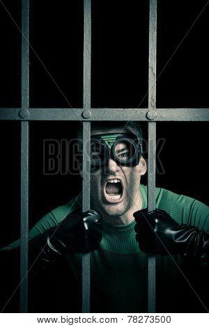Superhero Locked In Prison